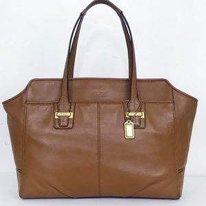 Coach Taylor Saddle Brown Leather Alexis Carry All